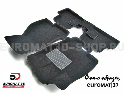 Текстильные 3D коврики Euromat3D Business в салон для Audi A5 Coupe (2010-2015) № EMC3D-001112