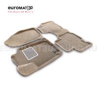 Текстильные 3D коврики Euromat3D Lux в салон для Toyota Rav 4 (2013-2019) № EM3D-005125T Бежевые