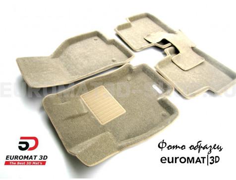 Текстильные 3D коврики Euromat3D Business в салон для Bmw 5 (E60) (2003-2010) № EMC3D-001204T Бежевые