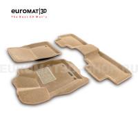 Текстильные 3D коврики Euromat3D Business в салон для Jeep Grand Cherokee (2010-) № EMC3D-002760T Бежевый