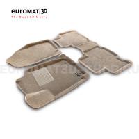 Текстильные 3D коврики Euromat3D Business в салон для Toyota Rav 4 (2013-2019) № EMC3D-005125T Бежевые